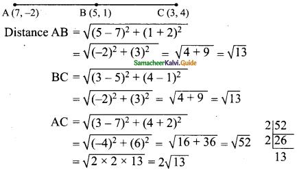 Samacheer Kalvi 9th Maths Guide Chapter 5 Coordinate Geometry Ex 5.2 5