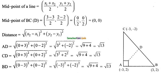 Samacheer Kalvi 9th Maths Guide Chapter 5 Coordinate Geometry Ex 5.3 12
