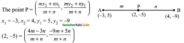 Samacheer Kalvi 9th Maths Guide Chapter 5 Coordinate Geometry Ex 5.4 2