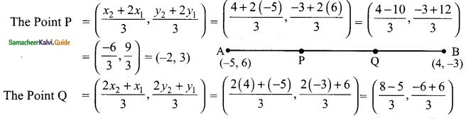 Samacheer Kalvi 9th Maths Guide Chapter 5 Coordinate Geometry Ex 5.4 4