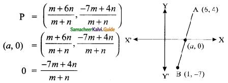Samacheer Kalvi 9th Maths Guide Chapter 5 Coordinate Geometry Ex 5.6 7