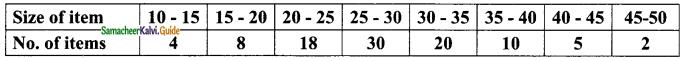 Samacheer Kalvi 9th Maths Guide Chapter 8 Statistics Additional Questions 8
