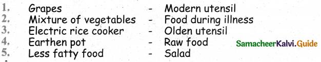 Samacheer Kalvi 4th Science Guide Term 2 chapter 1 food 1