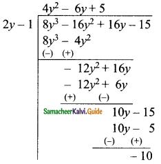 Samacheer Kalvi 9th Maths Guide Chapter 3 Algebra Ex 3.7 2
