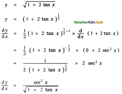 Samacheer Kalvi 11th Maths Guide Chapter 10 Differentiability and Methods of Differentiation Ex 10.3 12