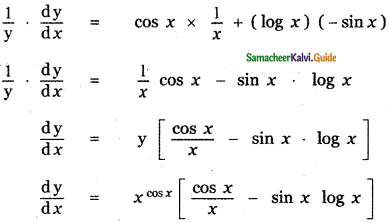Samacheer Kalvi 11th Maths Guide Chapter 10 Differentiability and Methods of Differentiation Ex 10.4 1