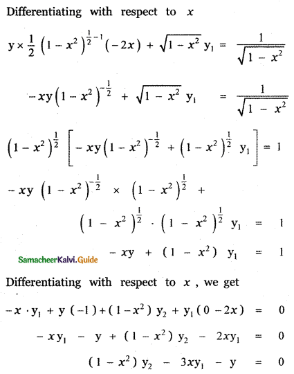 Samacheer Kalvi 11th Maths Guide Chapter 10 Differentiability and Methods of Differentiation Ex 10.4 36