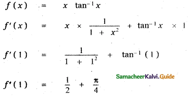 Samacheer Kalvi 11th Maths Guide Chapter 10 Differentiability and Methods of Differentiation Ex 10.5 10
