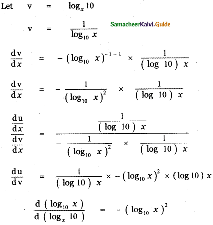 Samacheer Kalvi 11th Maths Guide Chapter 10 Differentiability and Methods of Differentiation Ex 10.5 17