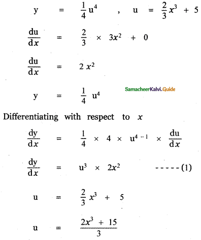 Samacheer Kalvi 11th Maths Guide Chapter 10 Differentiability and Methods of Differentiation Ex 10.5 3