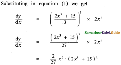 Samacheer Kalvi 11th Maths Guide Chapter 10 Differentiability and Methods of Differentiation Ex 10.5 4