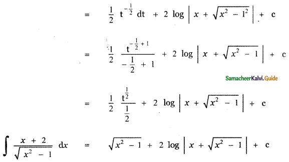 Samacheer Kalvi 11th Maths Guide Chapter 11 Integral Calculus Ex 11.11 13