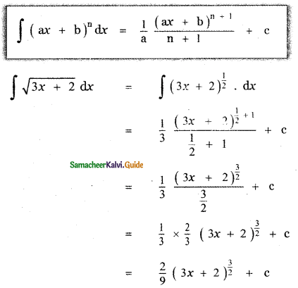 Samacheer Kalvi 11th Maths Guide Chapter 11 Integral Calculus Ex 11.2 3