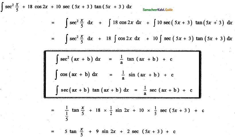 Samacheer Kalvi 11th Maths Guide Chapter 11 Integral Calculus Ex 11.3 4