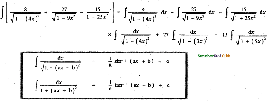 Samacheer Kalvi 11th Maths Guide Chapter 11 Integral Calculus Ex 11.3 6