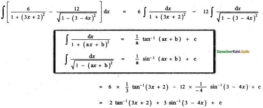Samacheer Kalvi 11th Maths Guide Chapter 11 Integral Calculus Ex 11.3 9