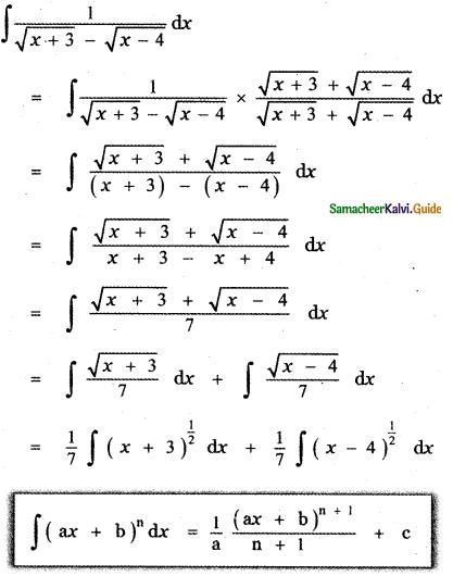 Samacheer Kalvi 11th Maths Guide Chapter 11 Integral Calculus Ex 11.5 30