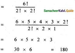 Samacheer Kalvi 11th Maths Guide Chapter 4 Combinatorics and Mathematical Induction Ex 4.2 18