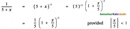 Samacheer Kalvi 11th Maths Guide Chapter 5 Binomial Theorem, Sequences and Series Ex 5.4 1