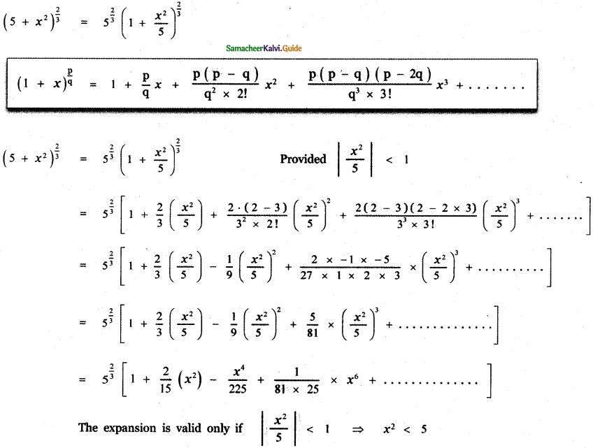 Samacheer Kalvi 11th Maths Guide Chapter 5 Binomial Theorem, Sequences and Series Ex 5.4 4