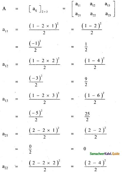 Samacheer Kalvi 11th Maths Guide Chapter 7 Matrices and Determinants Ex 7.1 1