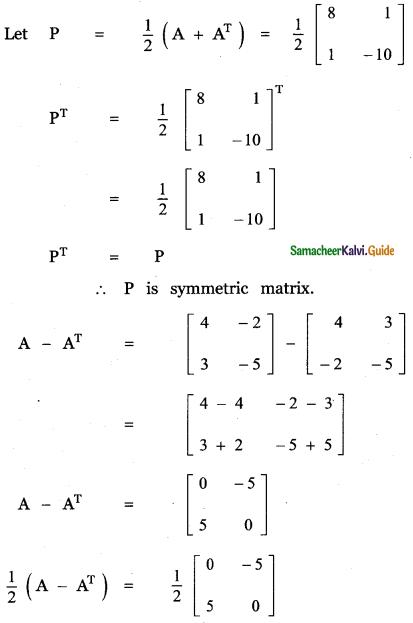 Samacheer Kalvi 11th Maths Guide Chapter 7 Matrices and Determinants Ex 7.1 46