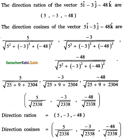 Samacheer Kalvi 11th Maths Guide Chapter 8 Vector Algebra - I Ex 8.2 13