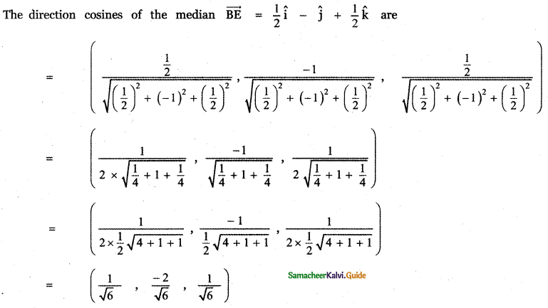 Samacheer Kalvi 11th Maths Guide Chapter 8 Vector Algebra - I Ex 8.2 20