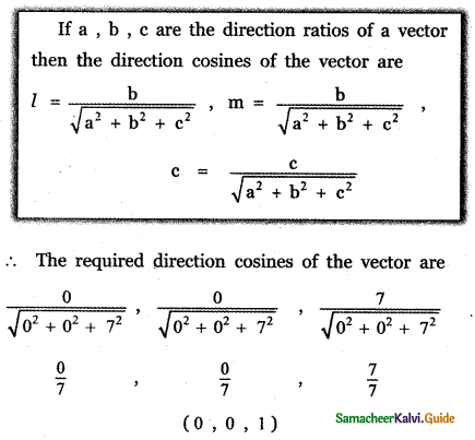 Samacheer Kalvi 11th Maths Guide Chapter 8 Vector Algebra - I Ex 8.2 8