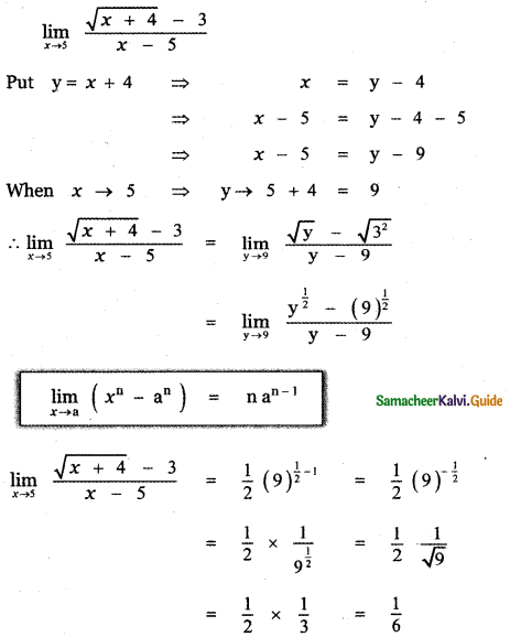 Samacheer Kalvi 11th Maths Guide Chapter 9 Limits and Continuity Ex 9.2 11