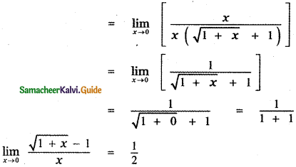 Samacheer Kalvi 11th Maths Guide Chapter 9 Limits and Continuity Ex 9.2 22