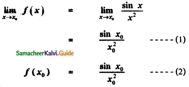 Samacheer Kalvi 11th Maths Guide Chapter 9 Limits and Continuity Ex 9.5 10
