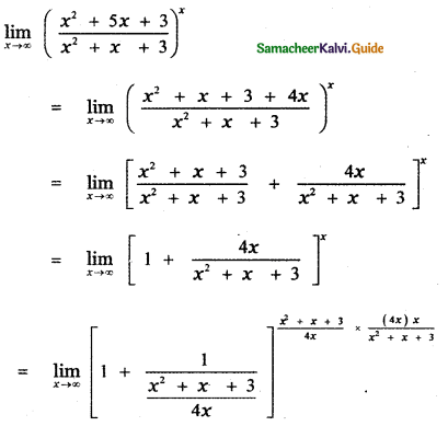 Samacheer Kalvi 11th Maths Guide Chapter 9 Limits and Continuity Ex 9.6 10