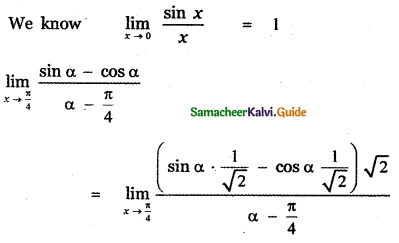 Samacheer Kalvi 11th Maths Guide Chapter 9 Limits and Continuity Ex 9.6 37