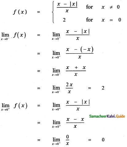 Samacheer Kalvi 11th Maths Guide Chapter 9 Limits and Continuity Ex 9.6 60
