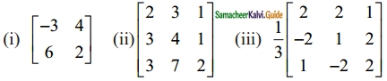 Samacheer Kalvi 12th Maths Guide Chapter 1 Applications of Matrices and Determinants Ex 1.1 1