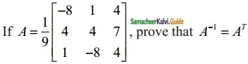 Samacheer Kalvi 12th Maths Guide Chapter 1 Applications of Matrices and Determinants Ex 1.1 13