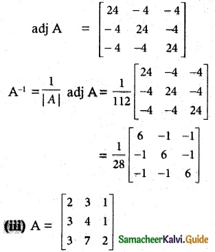 Samacheer Kalvi 12th Maths Guide Chapter 1 Applications of Matrices and Determinants Ex 1.1 6