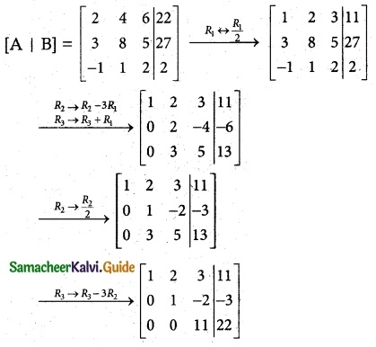Samacheer Kalvi 12th Maths Guide Chapter 1 Applications of Matrices and Determinants Ex 1.5 2