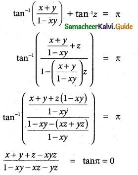 Samacheer Kalvi 12th Maths Guide Chapter 4 Inverse Trigonometric Functions Ex 4.5 11