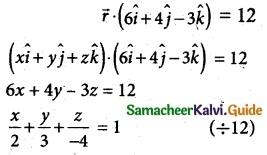 Samacheer Kalvi 12th Maths Guide Chapter 6 Applications of Vector Algebra Ex 6.6 4