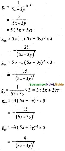 Samacheer Kalvi 12th Maths Guide Chapter 8 Differentials and Partial Derivatives Ex 8.4 11