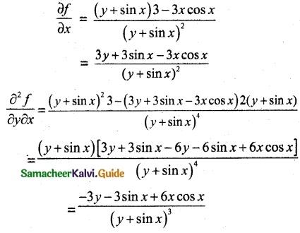 Samacheer Kalvi 12th Maths Guide Chapter 8 Differentials and Partial Derivatives Ex 8.4 5