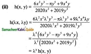 Samacheer Kalvi 12th Maths Guide Chapter 8 Differentials and Partial Derivatives Ex 8.7 1