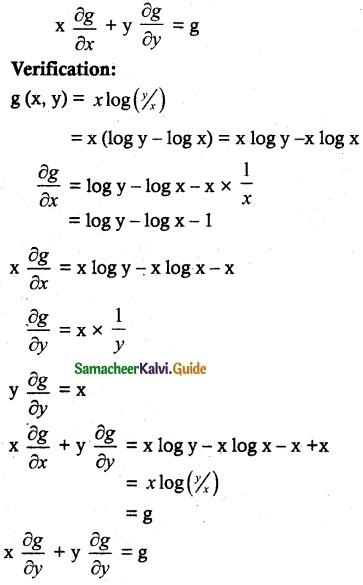 Samacheer Kalvi 12th Maths Guide Chapter 8 Differentials and Partial Derivatives Ex 8.7 5