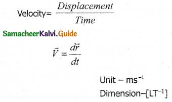 Samacheer Kalvi 11th Physics Guide Chapter 2 Kinematics 13