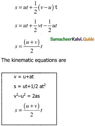 Samacheer Kalvi 11th Physics Guide Chapter 2 Kinematics 28