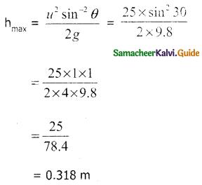 Samacheer Kalvi 11th Physics Guide Chapter 2 Kinematics 57