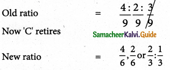 Samacheer Kalvi 12th Accountancy Guide Chapter 6 Retirement and Death of a Partner 1