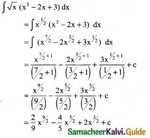Samacheer Kalvi 12th Business Maths Guide Chapter 2 Integral Calculus I Ex 2.1 3